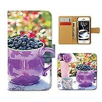 スマホケース 手帳型 SC-02L Galaxy Feel2 お菓子 手帳 ケース カバー スイーツ フルーツ ブルーベリー チェリー D0263010104901