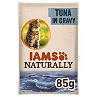 [Iams ] マグロ85グラムとIams自然に大人の猫ポーチ - Iams Naturally Adult Cat Pouch with Tuna 85g [並行輸入品]