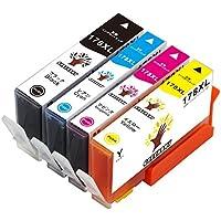 【GREENSKY】 HP178XL-4PK ヒューレット パッカード互換インクカートリッジ最新ICチップ搭載 増量版 高品質 4色セット(BK/C/Y/M)残量表示可能【安心の一年保証付き】HP Photosmart 5510 5515 D5460 6510 7510 C5380 C6380 B109a B109n B110a、HP Photosmart Plus B209a B210a、HP Deskjet 3070A 3520、HP Photosmart Premium C309g C309c Fax C309a C401C