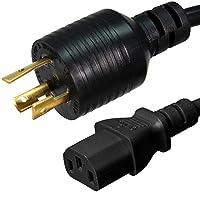 Nema l6–20p to c13電源コード–8足、15A / 250V、14/ 3AWG–Ironボックスパーツ# ibx-4938–08M 10 IBX-4938-08M