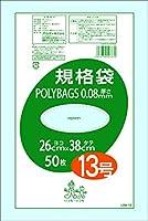 オルディ ポリバッグ規格袋13号 0.08mm 透明 50P×20
