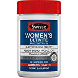 Swisse Premium Ultivite Daily Multivitamin for Women | Energy & Stress Support, Rich in Antioxidant & Minerals | Vitamin A, Vitamin C, Vitamin D, Biotin, Calcium, Zinc & More | 50 Tablets