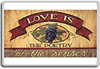 Love Is The Poetry Of The Senses - motivational inspirational quotes fridge magnet - ?????????