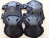 XTAK型SWAT肘膝プロテクターエルボーパッドニーパッド黒エルボーパットニーパット
