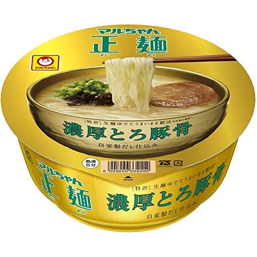 マルちゃん マルちゃん正麺 カップ 濃厚とろ豚骨 107g×12個