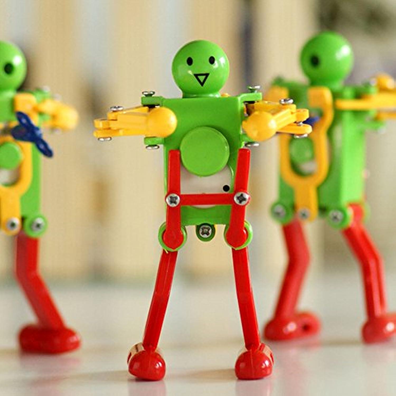 ノベルティClockwork Toy ( 3パック) Wind - Up Toy Clockworkばねおもちゃ面白いDancingロボット子供キッズベビー玩具クリスマスギフトクリスマスプレゼント