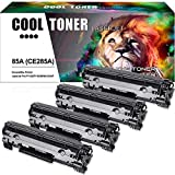 Cool Toner 4 Pack 1,600 Pages Compatible Toner Cartridge Replacement For HP 85A CE285A CE285 Used For HP LaserJet P1102W P1102 M1212NF M1217NFW MF3010 M1210 M1132