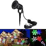 イルミネーションライト-CroLED 雪花 プロジェクションライト 誕生日 パーティー 投影ランプ プラネタリウム ステージライト マルチカラー スノーフレーク 防水 プロジェクター ライト ガーデンライト イルミネーションライト パーティー 庭園 灯 スポットライト 高輝度 クリスマス ハロウィン 照明 LED投光器