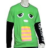 (ガチャピン×ムック) GACHAPIN×MUKKUメンズガチャピン長袖TシャツPP9300 M グリーン [ウェア&シューズ]