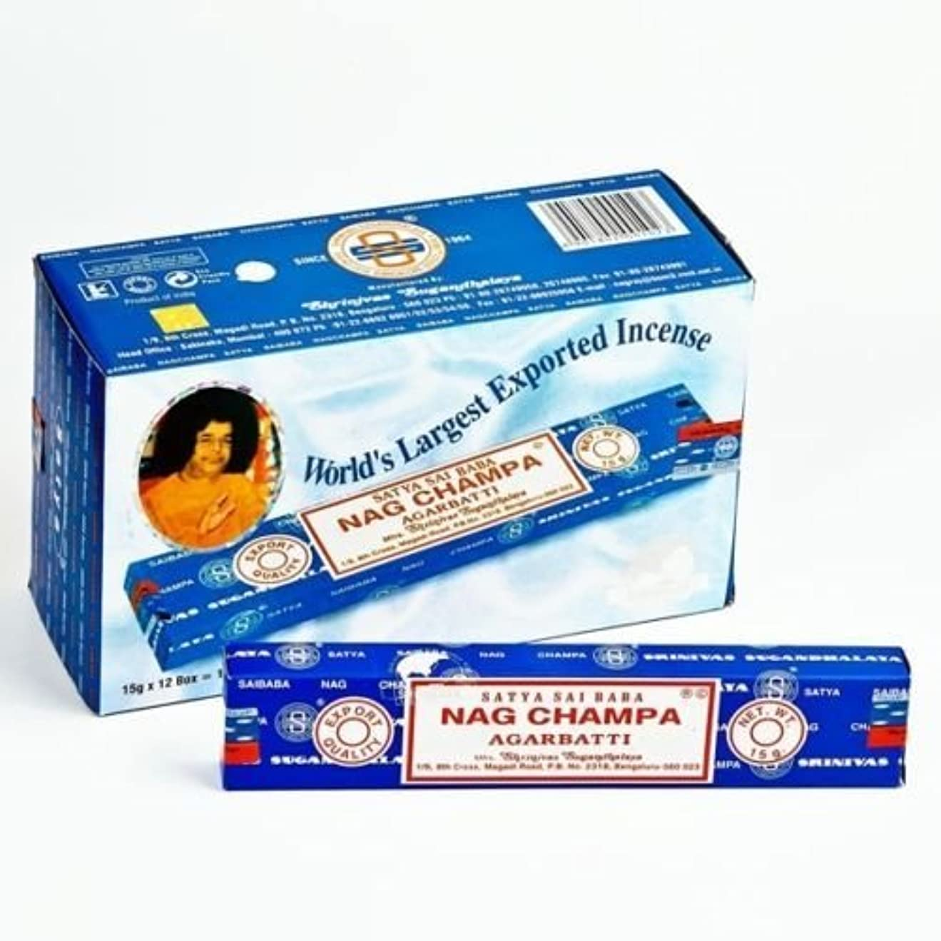 キャラバン悪用海軍Nag Champa incense sticks 15G X 12 BOX = 180G