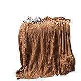 毛布 アホ  四季節用 洗える肌布団 一年中使える毛布 冷房使用 エアコン対策  肌 、寝心地爽やか  防寒 抗菌 防臭 防ダニ 柔らかな 肌触り 優れた 通気性  130*160cm (LF-AN-WR-KQ)