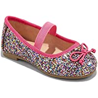 Cat & Jack Toddler Girls' Lily Glitter Ballets (5) Pink