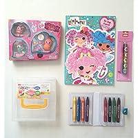 Lalaloopsy Mini Lala Oopsie Little人形Fairies &キャリーケース、カラー&アクティビティブックW / &パズル、想像力のゲームのOodlesスティッククレヨンand Creatology動物ローラースタンプ子バンドル( 5 Items )
