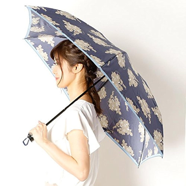 ビバユー(雑貨)(VIVA YOU) 雨傘(折りたたみ傘/3段/ミニ傘)花柄/影花(婦人/レディース)