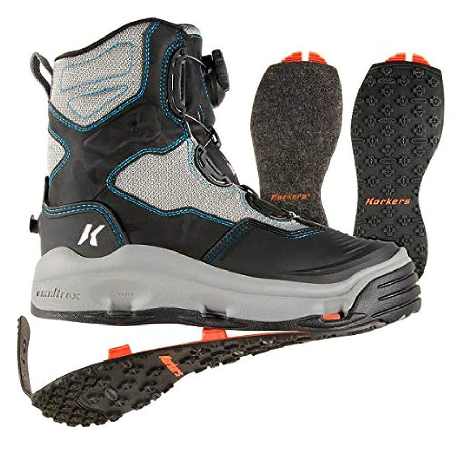 汚れた交換可能ランプKorkersレディースDarkhorse Wading Boots Womens 6 kling-on &スタッズkling-on