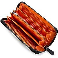 [レガーレ] カーボンレザー カード18枚収納 でたくさん入る 長財布 10色 プレゼント ギフト