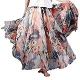 (アッシュランゲル)ASHERANGELレディース 花柄ロングスカート ふんわりマキシスカート 1#
