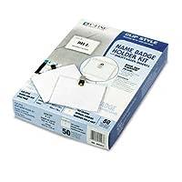 c-line : clip-styleバッジホルダーキット、トップロード、3x 4、ホワイト、50perボックス–: -の2パックとして販売–50–/–Total of 100各