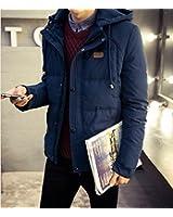 ダウンジャケット メンズ 軽量 ビジネス 中綿ジャケット メンズ ジャケット ブルゾン ダウン 中綿 防寒 ライトダウン 軽い  秋冬 (M, 紺)
