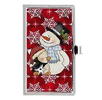 クリスマス雪だるまカスタムPersonalized印刷ステンレス鋼ビジネスカードケース