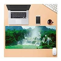 """Zenghh 大型ゲーミングマウスパッド、特大サイズのマット、風景風景中国のマウスパッド、ノンスリップラバーベースで縫製は、エッジ - 31.4"""" X 11.8"""" (Color : C)"""