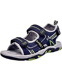 (ダダウン)DADAWEN  男の子 ビーチサンダル ジュニア 真夏靴 オープントゥ 履き心地抜群 柔らかい 滑り止め 通学 海水浴 アウトドア