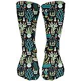 男性/女性のノーム多肉植物サボテンテラリウムカジュアル弾性ソックス長さ50cm(19.6インチ) Best stocking