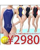 【Yingfa】レディース ワンピース競泳水着 4L ブラック/レッド