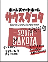 【FOX REPUBLIC】【サウスダコタ アメリカ 地図】 白マット紙(フレーム無し)A4サイズ