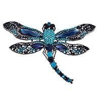 obonnieレトロオーストリアクリスタルLarge Dragonfly Sparkling CZコサージュブローチピンラペルピンバッジペンダント