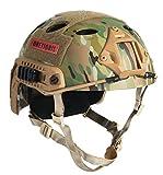 OneTigris PJタイプヘルメット エアソフトヘルメット 米軍風レプリカ装備 多目的 サバゲー・作業用など マウントレール付き かっこいい 軽量 (マルチカム迷彩)