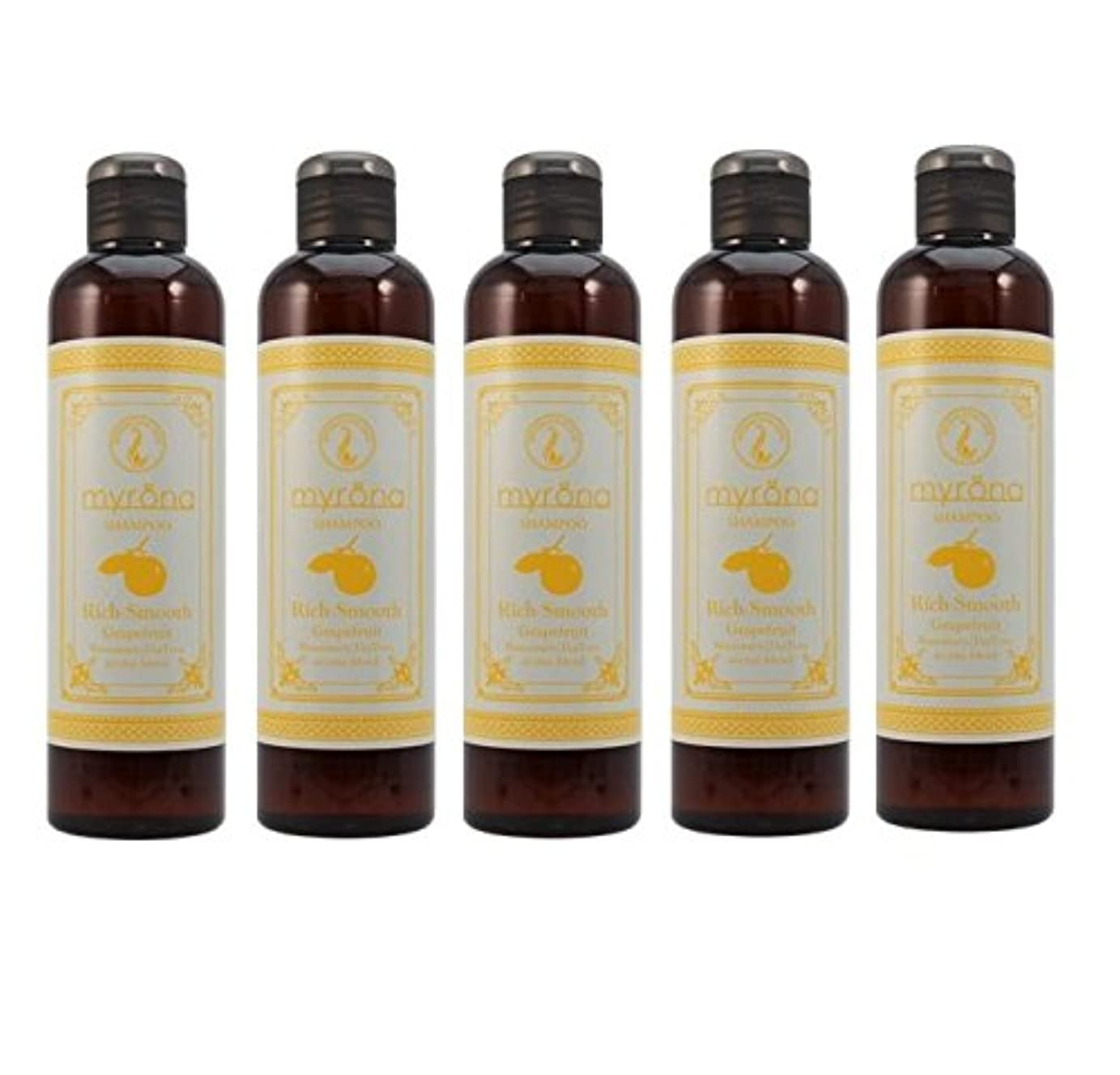【X5個セット】 ビバニーズ ミュローナ ふんわリッチシャンプー(グレープフルーツの香り) 260ml 容器入り