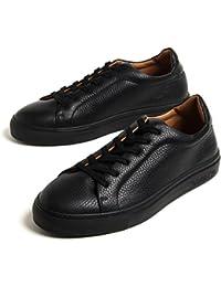 パントフォラドーロ 靴 レザー スニーカー Pantofola d'ORO SM61 グレー ブラック 灰色/黒