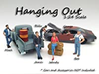 """""""Hanging Out"""" 6 Pieces Figure Set For 1:24 Scale Models by American Diorama サイズ : 1/24 [並行輸入品]"""