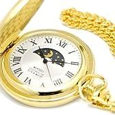 [モントレスコレクション]Montres Collection 懐中時計 サン アンド ムーン ポケットウォッチ ゴールド ローマ数字 MC-900G/R