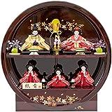 雛人形 五人飾り 円形飾り台 幅45cm [fz-6] ひな人形