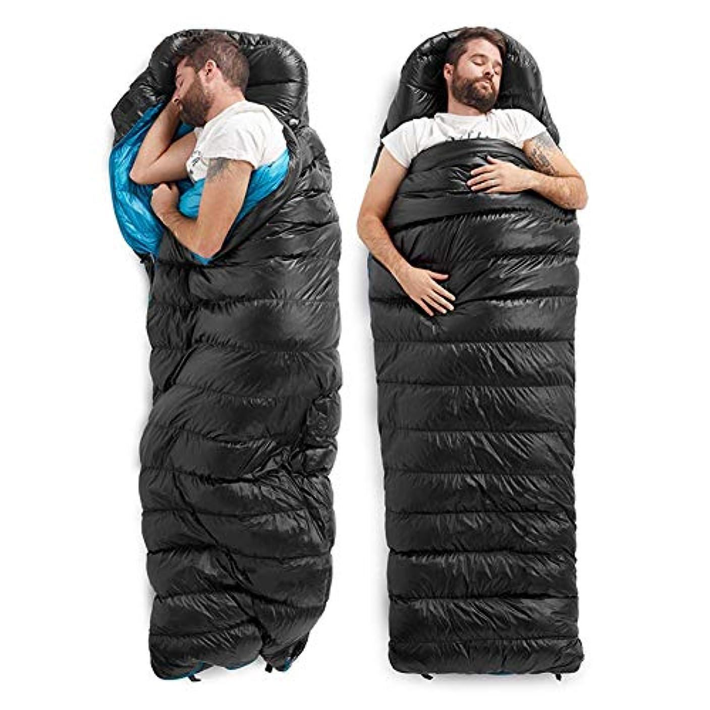 引き渡す買い物に行くマラウイCherrysong 冬用寝袋 封筒型寝袋 ソフトベルベット 寝袋ライナー 圧縮袋で快適 軽量 ポータブル 防水 冬 アウトドア キャンプ用 (5°C / -15°C)