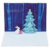 サンリオ クリスマスカード 洋風 ポップアップ クリスマスツリーにウサギ  S6120
