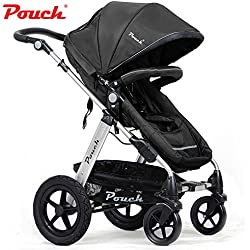 POUCH 2 IN 1 BABY TODDLER PRAM STROLLER JOGGER ALUMINIUM WITH BASSINET 5 COLORS