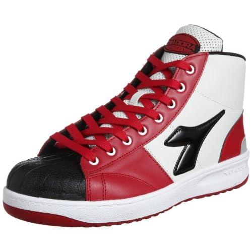 [ディアドラユーティリティ] DIADORA UTILITY 作業靴 スニーカー エミュー EM321 EM321 レッド&ブラック(レッド&ブラック/27.0)
