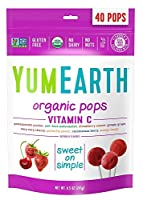 Yummy Earth, Organic, Vitamin C Pops, Assorted Flavors, 40 Pops, 8.5 oz (245 g)