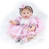 Decdeal 55cm リボーン ベビードール 女の子 PP詰め物 かわいい ギフト おもちゃ