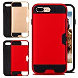 IPhone 7Plus Case wih CARD Slot Rose/Red