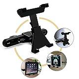 TURATA 車用タブレットマウント カーシートヘッドレストマウントホルダー iPad iPad Air iPad mini SAMSUNG7–10インチタブレット 360度回転