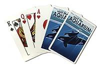 Orca and Calf–Visit the Aquarium ( Playingカードデッキ–52カードPokerサイズwithジョーカー)