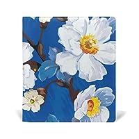 旅立の店 ブックカバー レザー 文庫カバー フリーサイズ 油絵 白い花 美しい 上品 おしゃれ 本好きなあなたに 学生