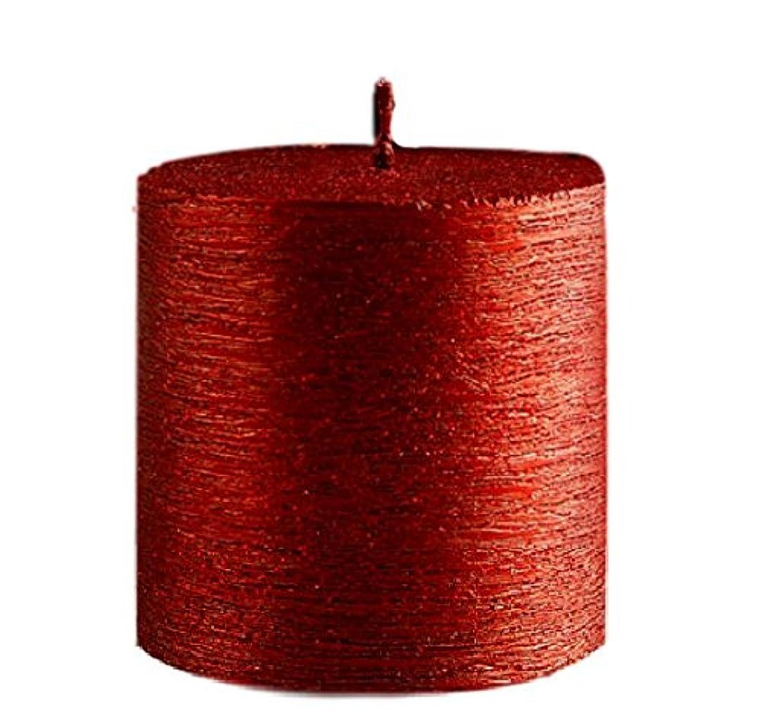 十一急流トーン(Red) - Valentines Love Romantic Candle (Red) 7.5cm Pillar, Metallic Look, Classy and Elegant, Decorative Candle...
