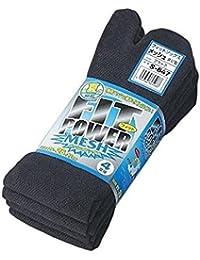 【4足組×5セット販売】おたふく手袋  S-647 フィット メッシュ タビ型  ブラック【20足】【サイズ】 25~26~27cm