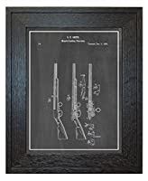 "muzzle-loading fire-arm特許アート印刷A Border素朴なオーク材のフレーム 11"" x 14"" 10226-77b-4-none_chab"