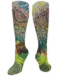 靴下,ストッキング,野生のジョーカー,実際,秋の本質,冬必須,サマーウェア&RBXAA Tree in The Valley Spiral Branch Socks Women's Winter Cotton Long...